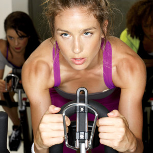 spin class woman